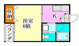 サマックスM[2階]の間取り