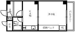 大阪府堺市中区深井中町の賃貸マンションの間取り