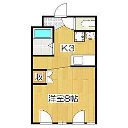 槙島センタービル[306号室]の間取り
