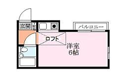 ドーム155[2階]の間取り