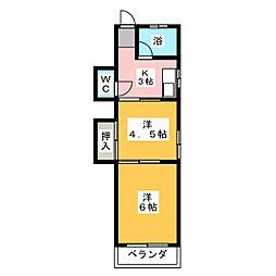 山巳荘[3階]の間取り