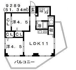 Domani(ドマーニ)[301号室号室]の間取り