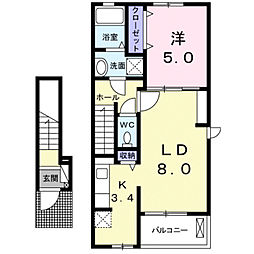スマイルハウス A[2階]の間取り