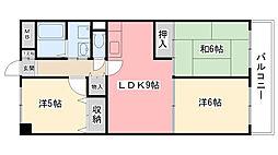 園民マンション[305号室]の間取り