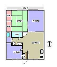 ピァU塩澤[202号室]の間取り