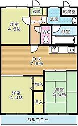 ロワールマンション赤坂(分譲賃貸)[3階]の間取り