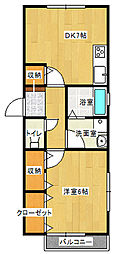 メゾンKokishia[201号室]の間取り