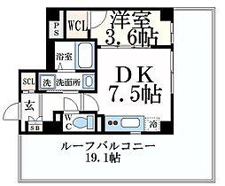 シンキューブワン 5階1DKの間取り