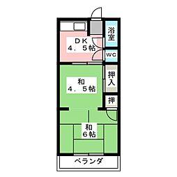 第3シャトー宮[2階]の間取り