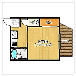 エルモス百道[203号室]の間取り