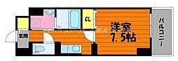 JR山陽本線 倉敷駅 徒歩11分の賃貸マンション 6階1Kの間取り