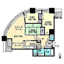 コアマンション大手門タワー[501号室]の間取り