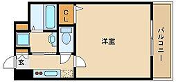 阪急神戸本線 園田駅 徒歩1分の賃貸マンション 4階1Kの間取り