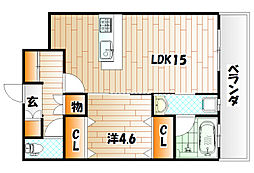 KSK門司コアプレイスB棟[2階]の間取り