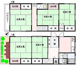 [一戸建] 神奈川県横浜市港北区篠原東3丁目 の賃貸【/】の間取り