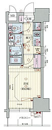 Osaka Metro千日前線 阿波座駅 徒歩1分の賃貸マンション 13階1Kの間取り