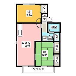 アピタシオン B棟[2階]の間取り