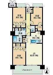 RJRプレシア高取[5階]の間取り