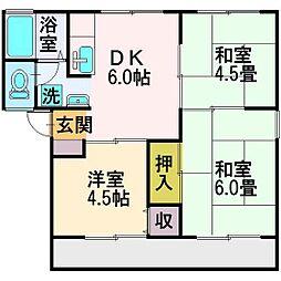 埼玉県富士見市羽沢1丁目の賃貸アパートの間取り