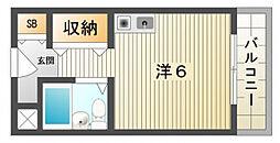 プレアール寝屋川池田[4階]の間取り