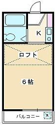 リーフデザインハウス朝霞台[102号室]の間取り