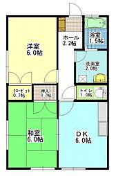 茨城県ひたちなか市大字高野の賃貸アパートの間取り