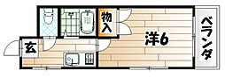 シャトレ井堀[4階]の間取り