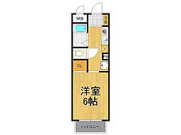 兵庫県西宮市大社町の賃貸アパートの間取り