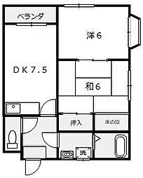 大阪府堺市堺区海山町1丁の賃貸マンションの間取り