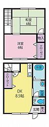 [テラスハウス] 静岡県三島市徳倉4丁目 の賃貸【/】の間取り