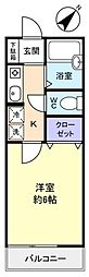 サンライズ北習志野III[2階]の間取り