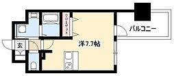 ADVANCE NAGOYA MOXIE 8階ワンルームの間取り