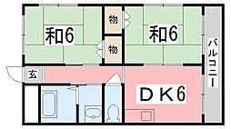 メゾン門田[2-D号室]の間取り
