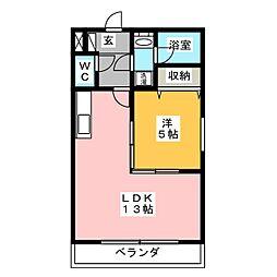 コスモハイツKATOHII[2階]の間取り