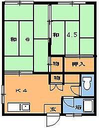さくらハウス[4号室]の間取り
