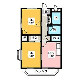 フェニックスI[2階]の間取り