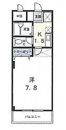 コンフォート富士III[105号室]の間取り