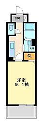 神奈川県川崎市宮前区土橋2丁目の賃貸マンションの間取り