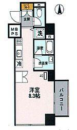 阪神本線 深江駅 徒歩2分の賃貸マンション 7階ワンルームの間取り