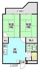 大福マンションII[4階]の間取り
