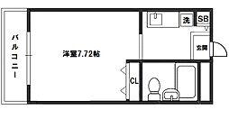 エクセレンス新大阪[8階]の間取り