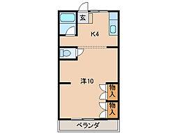 ユニオンハイツ松江[3階]の間取り