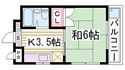 泉ハイツ[402号室]の間取り
