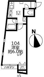 ファインミル調布[1階]の間取り