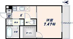 K`sResidence瓢箪山[3階]の間取り