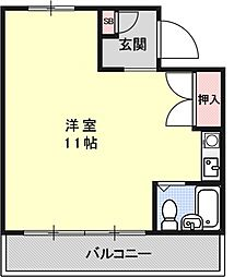 サンハイム吉田[202号室号室]の間取り
