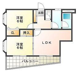 サントピア須磨[8階]の間取り