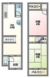 [テラスハウス] 大阪府門真市岸和田3丁目 の賃貸【/】の間取り