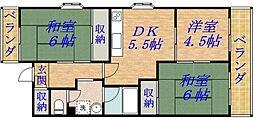 メゾンドアルモニー[4階]の間取り