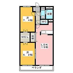 エクセルコートB[3階]の間取り